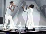 "Machine Gun Kelly and Camila Cabello perform ""Bad Things."""