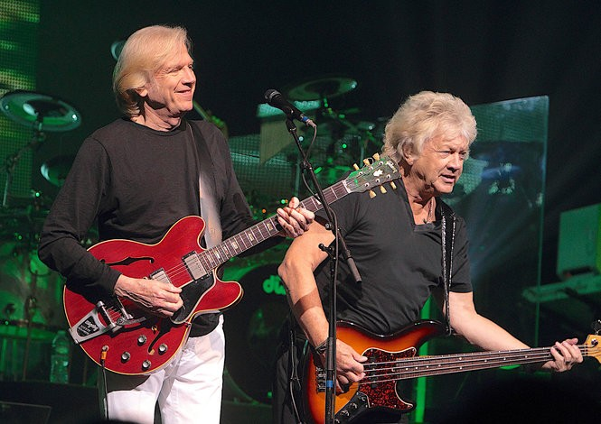 An IOU for a ticket to see Justin Hayward, left, John Lodge and their Moody Blues band mate Graeme Edge inducted into the Rock & Roll Hall of Fame on April 14 at Cleveland Public Hall is the perfect gift for the prog rock fan in your life.