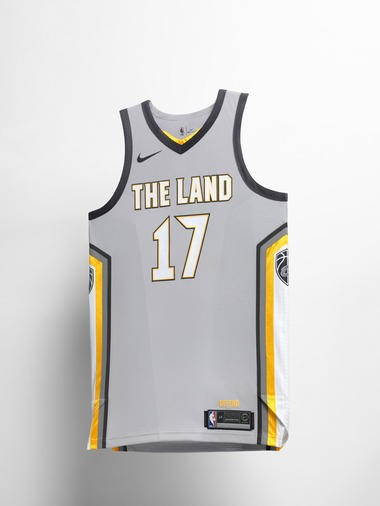 148a5be05 The Cavaliers  new jerseys features the words  The Land  emblazoned across  ...