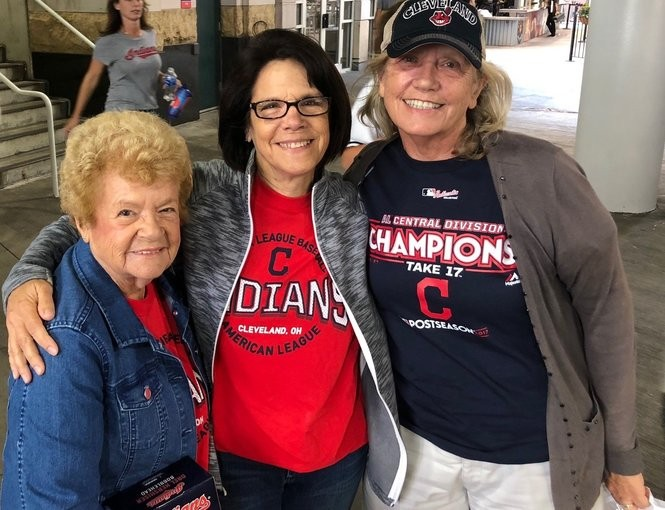 Jennifer Wells, right, with her aunt Shirley Sayles, left, and cousin Melanie Sayles Hawley attended the As-Indians game July 7.