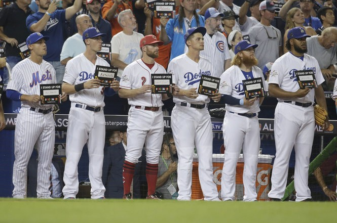 The emotional placard moments are held during the All Star Game and World Series.