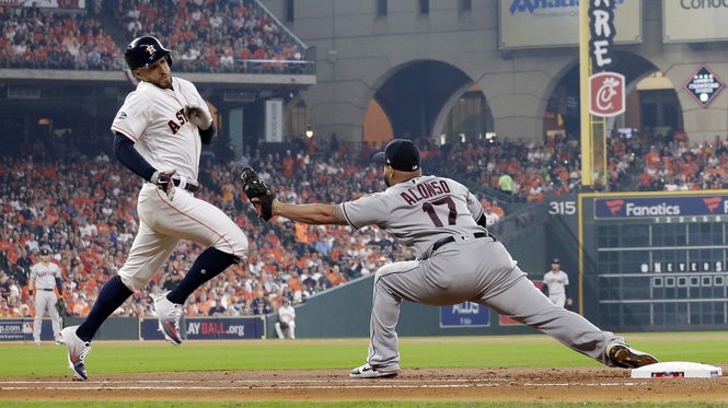 TBS is broadcasting the ALDS series between the Cleveland Indians and Houston Astros.