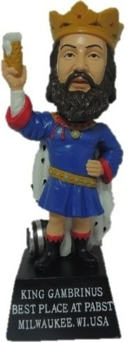 King Gambrinus lives - in the form of a bobblehead to commemorate National Bobblehead Day.