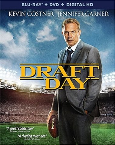 "DVD review of ""Draft Day"" starring Kevin Costner, filmed in Cleveland."
