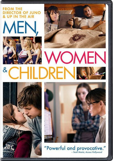 "DVD review of ""Men, Women and Children,"" starring Adam Sandler."