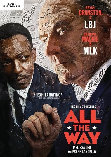 "DVD review of ""All the Way"" starring Bryan Cranston."