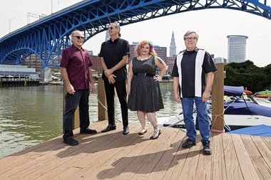"""Rachel Brown with her band, the Beatnik Playboys. Their motto: """"Let's just play what we wanna play."""""""