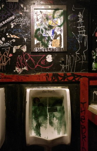 Ah, nostalgia is a powerful thing -- able to make some sentimental for the bathrooms at the old Grog Shop.