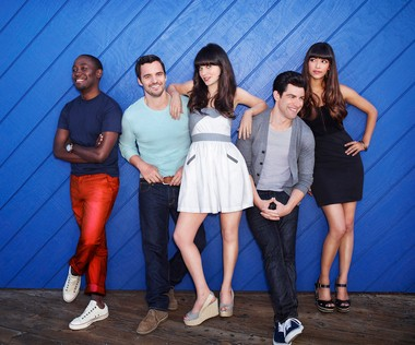"The ""New Girl"" cast from left: Lamorne Morris, Jake Johnson, Zooey Deschanel, Max Greenfield and Hannah Simone are shown. (AP Photo/FOX, Dewey Nicks, File)"