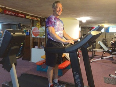 Beachwood resident Jerry Rubenstein has breast cancer, which has metastasized. He continues to take treatments and run 6.2 miles every other day. In inclement weather, he heads to his basement to run on the treadmill. He, along with his older daughter and sister, will participate in the June 7 Race for the Place, a Gathering Place event.