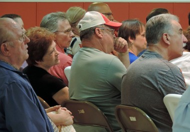 A large crowd of residents listened to Fairview officials in August on ways to alleviate flooding issues.
