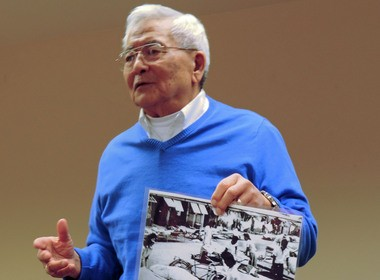 Ed Ezaki shared memories of his years spent in an Arizona internment camp during World War II.