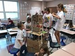 Area students are engaged in Camp Invention activities at Gilles-Sweet Elementary. (Photo courtesy of Fairview Park City Schools)