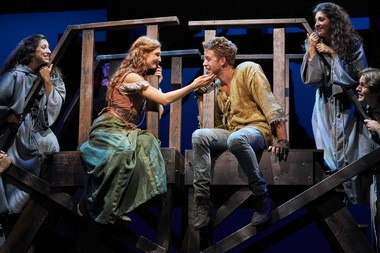 """Keri Rene Fuller and Corey Mach in the Great Lakes Theater production of """"The Hunchback of Notre Dame, the Musical"""" at Playhouse Square's Hanna Theatre through Nov. 4."""