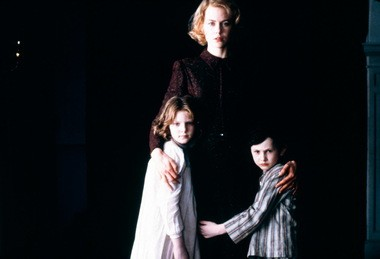 "Nicole Kidman, Alakina Mann, and James Bentley in a scene from ""The Others."" Case Western Reserve University Film Society is presenting the film at 7, 9 and 11 p.m. Friday."