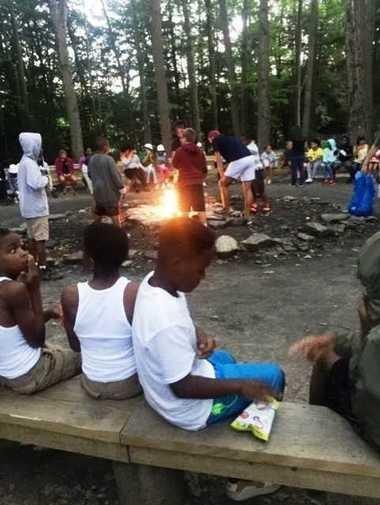 Previous participants in a camping program