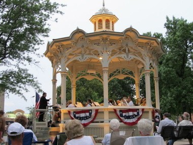 The Medina Community Band performs Fridays at 8:30 p.m. in the Uptown Park Gazebo on Medina Square through July 27. The concerts are free but audience should bring lawn chairs or blanket to enjoy the music.