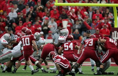 Getting his kicks: Joe Kleinsmith went from St. Edward's High School to kicking for Indiana University and eventually to Arena Football's front office.