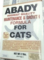 Recalled Abady Highest Quality Maintenance & Growth Formula for Cats due to salmonella contamination