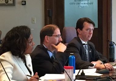 City officials answer questions on lead during a council meeting in Jan. 2016.