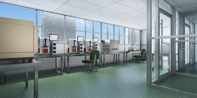 This is an artist's rendering of Abeona Therapeutics' Elisa Linton Center for Rare Disease Therapies, will include laboratories for producing advanced gene and cell therapies. Construction on the new facility started in October. Credit: Geis Companies