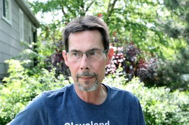 John Tramsak at his home in Bedford in June.