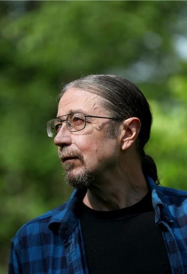 Larry Harbert at his home in June.