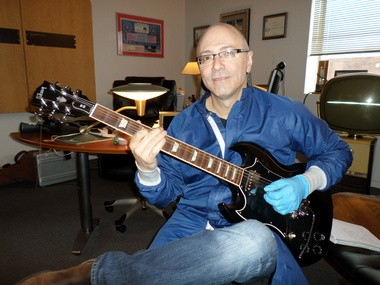 Dr. Jerry Mearini, president and founder of GENVAC Aerospace in Highland Heights, has developed a new, Diamond Like Carbon-coated guitar pick he is branding as the Rock Hard Pick. Mearini has played guitar for 40 years.