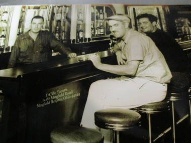 A photo taken at DiCillo Tavern in the 1940s. At left, is Dominic DiCillo, who founded the business in 1933.