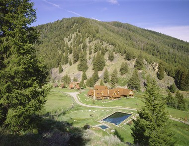 Carole King's estate includes thermal pools and mountain views.