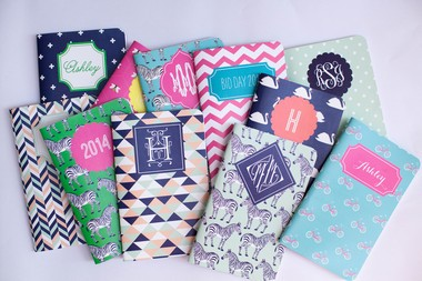 Customize notebooks from May Designs to create the perfect place for important lists, notes and journaling.