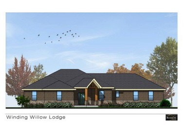 This is an artist's rendering of the 2015 Idea Home, a 2,400-square-foot ranch-style Winding Willow Lodge. Tour the Idea Home at the Great Big Home and Garden Show.