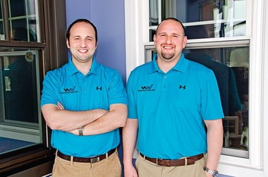 Brothers Harley Magden, left, 39, and Aaron Magden, 35, jointly run the home improvement company Window Nation.