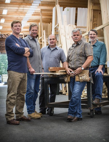 "The cast of ""This Old House"" and ""Ask This Old House"" returns for new seasons premiering locally on Saturday, Oct. 8. From left: Kevin O'Connor, Roger Cook, Richard Trethewey, Tommy Silva and Norm Abram. Credit: Carl Tremblay"