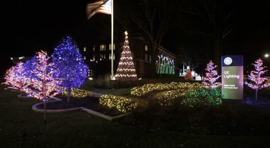 Here is a panorama of the GE Lighting holiday lighting display in 2013. About a half million LED lights were used throughout the displays, including a replica of the National Christmas Tree in front of the White House.