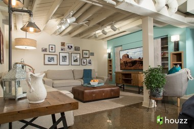 """Kristen Bell remodeled her sister's basement, shown here, for """"My Houzz,"""" a new webisode that shows celebrities using Houzz as a resource for renovating the homes of loved ones."""