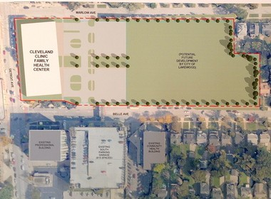 This rendering shows what the Lakewood Hospital property might look like in the future.