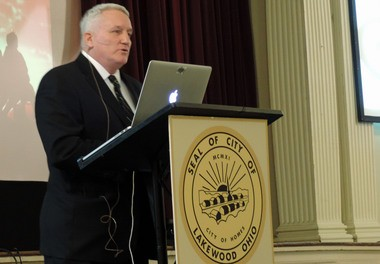 Mayor Mike Summers presents his State of the City address Wednesday evening inside Lakewood Masonic Temple.