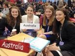 Lakewood resident Frannie Smith, from left, Sydney Rexing, Daniella Saul and Claudia Stephens of St. Joseph Academy, participated in the International Model United Nations. Photo courtesy of St. Joseph Academy.