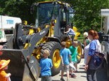 The front-end loader attracted many youngsters and their families.