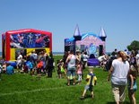 These inflatables were a popular attraction for children at the annual Meet the Trucks event. 0n June 3.