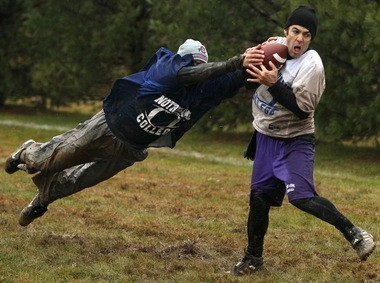 The Meadows Turkey Bowl is played every Thanksgiving morning - rain, snow, sun - in the back yard of the Medina businessman. It is the single largest fundraiser for St. Vincent de Paul Society in the county.