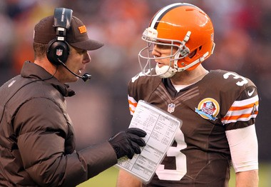 Brandon Weeden could've been the first quarterback picked in this draft, which has a weak QB class.