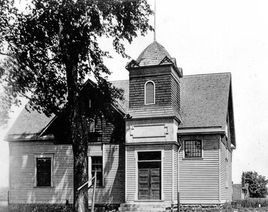 Photos such as this, which depicts South Euclid's city hall early in the twentieth century, will be on display as part of the South Euclid-Lyndhurst Historical Society's program to take history to the people. COURTESY OF THE SOUTH EUCLID-LYNDHURST HISTORICAL SOCIETY