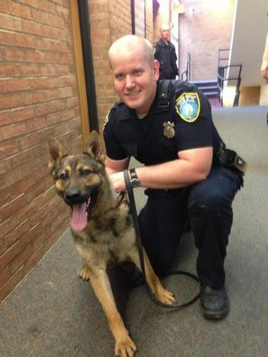 Oktane and patrolman Dustin Smoot