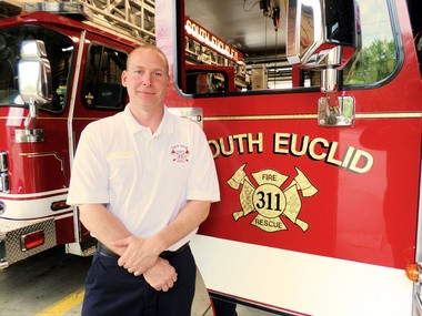 New South Euclid Fire Department Assistant Chief David Csire has been with the department for 22 years.