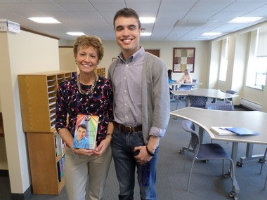 """Sandy, and son David, Petrovic are authors of the book """"Expect A Miracle"""" about David's experience growing up with Asperger's Syndrome."""