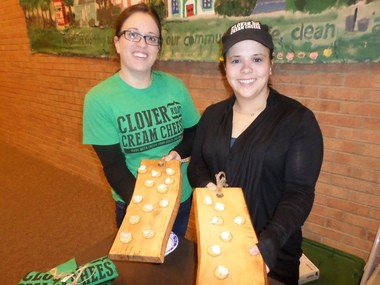 South Euclid residents Sarah (left) and Rachel Gross have started their own business, Clover Road Cream Cheese.