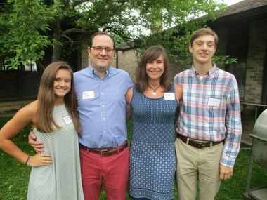 Three of the four members of the Rini family, of Chagrin Falls, attended Montessori School of University Heights. From left are Anna Rini, 17, Chris Rini, Heather Rini, and Jack Rini, 18. All but Heather attended the school.