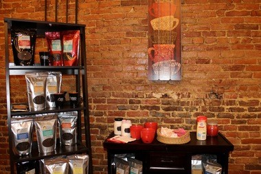 Shoppers can also sip -- and purchase -- Medina Creative Coffee at the new Creatively Tagged Boutique in Wadsworth.